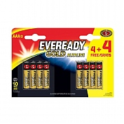 Eveready AAA Gold Batteries (Pack of 4 + 4 Free)