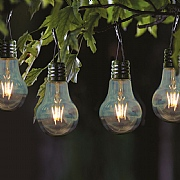 Smart Solar Eureka! Retro LED Solar Lightbulb - 4 Pack