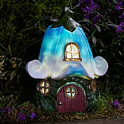 Smart Solar Bluebell Cottage LED Solar Garden Ornament - The Elvedon Collection