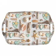 iStyle Seashells Handled Tea Tray