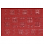 iStyle Teslin Woven Placemat - Red Squares