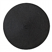 iStyle Round Woven Mat Black