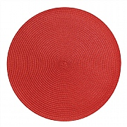 iStyle Round Woven Mat Red