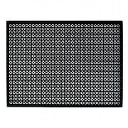 iStyle Glitter Glass Placemats - Black & Silver Circles