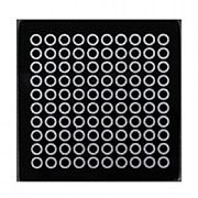 iStyle Glitter Glass Coasters - Black & Silver Circles