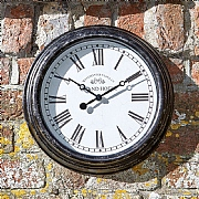 Outside In Biarritz Wall Clock Black 12""