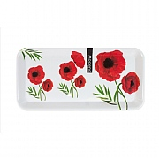 Modena Small Melamine Serving Tray - Poppy