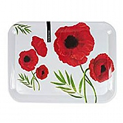 Modena Large Melamine Serving Tray - Poppy