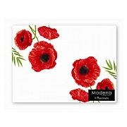 Modena Poppy Design Placemat 4 Pack