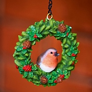 Vivid Arts Hanging Robin Wreath