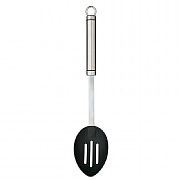 KitchenCraft Professional Stainless Steel Non-Stick Oval Handled Slotted Spoon