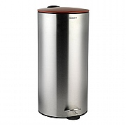 Progress BW05303R 30 Litre Soft Close Stainless Steel Pedal Bin - Red