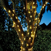 Smart Solar Firefly Warm White 50 LED Solar String Lights