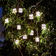 Smart Solar Firefly Jars LED Solar String Lights - 10 Jars