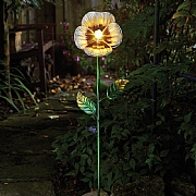 Smart Solar White Pansy LED Solar Flower Stake Light