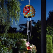 Smart Solar Ceramic Robin LED Solar Windchime