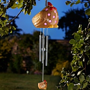 Smart Solar Ceramic Hen LED Solar Windchime