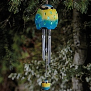 Smart Solar Ceramic Blue Tit LED Solar Windchime
