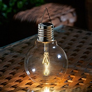 Smart Solar Eureka! Vintage LED Solar Lightbulb