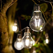 Smart Solar Eureka! Retro LED Solar String Lights - 10 Bulbs