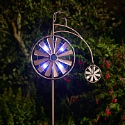 Smart Garden Penny Farthing Wind Spinner & LED Solar Lights