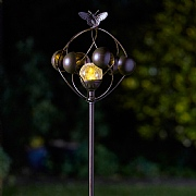 Smart Garden Aura Wind Spinner & LED Solar Crackle Globe Light