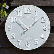 Outside In Westminster Clock Duck Egg Blue 12""