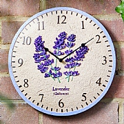 Outside In Lavender Wall Clock 12""