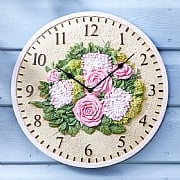 Outside In Floral Wall Clock 12""