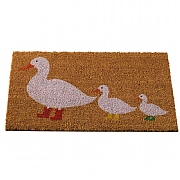Outside In Ducks In Boots Decoir Mat 75x45cm