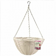 Smart Garden Seashell Faux Rattan Hanging Basket - 14''