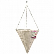 Smart Garden Seashell Faux Rattan Hanging Cone - 14''