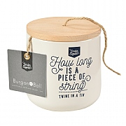 Burgon & Ball Twine in a Tin Jute Twine Dispenser - Stone