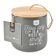 Burgon & Ball Twine in a Tin Jute Twine Dispenser - Charcoal