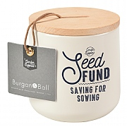 Burgon & Ball Seed Fund Money Box - Stone