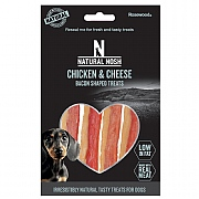 Rosewood Natural Nosh Chicken & Cheese Bacon Shaped Treats 10 Pack 100g