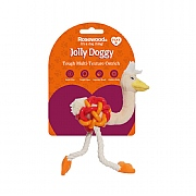 Rosewood Jolly Doggy Multi-Texture Ostrich Mini Toy