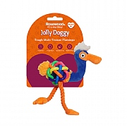 Rosewood Jolly Doggy Multi-Texture Flamingo Mini Toy