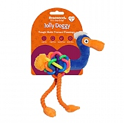 Rosewood Jolly Doggy Multi-Texture Flamingo Toy