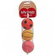 Rosewood Jolly Doggy Rubber Balls 3 Pack