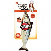 Plubber Grab A Bite Fish Dog Toy