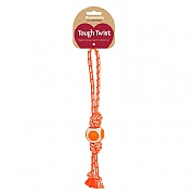 Rosewood Tough Twist Dental Throw Dog Toy