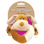 Rosewood Natural Nippers Cuddle Plush Ring