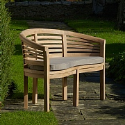 Bramblecrest Pimlico Teak Banana Bench with Cushion