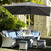 Bramblecrest Lichfield 2.7m Square Grey Side Post Parasol with Base