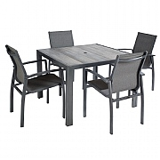 Hartman Georgia 4 Seater Square Dining Set