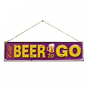 La Hacienda Beer to Go Embossed Metal Sign