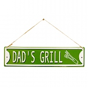 La Hacienda Dad's Grill Embossed Metal Sign