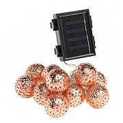 Cole & Bright 10 Dual Powered Rose Gold Sphere String Lights