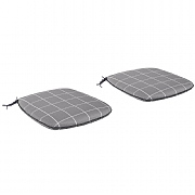 Kettler Caffe Roma Slate Check Seat Pads (Set of 2)